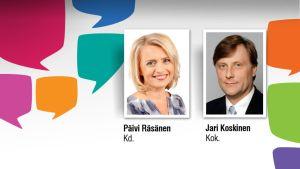Päivi Räsänen ja Jari Koskinen