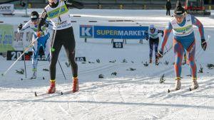 Mona-Liisa Malvalehto hiihti Vuokatin Suomen cupin sprinttivoittoon.