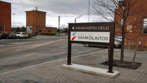 Tampereen sähkölaitoksen asiakaspalvelun opaste