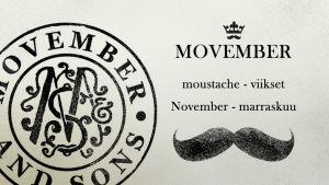 Movember -grafiikka.