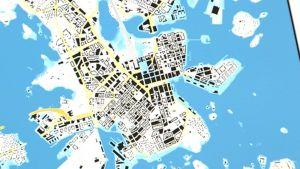 Apps4 Finland -kilpailuun osallistuva sovellus visualisoi tulvatilannetta ja kertoo, kuinka paljon pitäisi sataa, että tietyt alueet jäisivät veden alle.