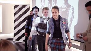 Great Wide North -yhtye Uuden musiikin kilpailun lehdistötilaisuudessa.
