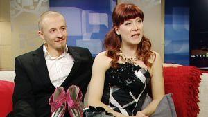 Aamu-tv:ssä vieraili yksi päivän onnellisista pareista, Satu Pahlman ja Miikka Rantanen.