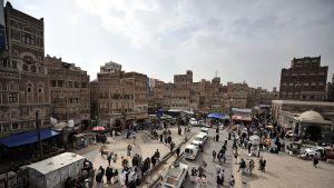 A bazaar area in Sanaa in late December.