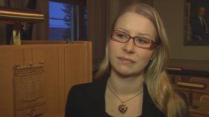Savonlinnan kaupunginvaltuuston puhenjohtaja Anna-Kristiina Mikkonen (sd.)