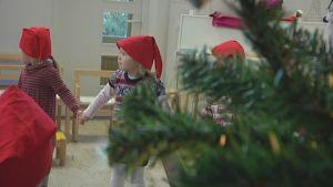 Joulu, Rauma, Pyynpään päiväkoti, lapsia