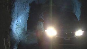 Auto kaivoskäytävässä Ilomantsin Pampalossa