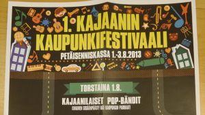 Kajaanin Kaupunkifestivaalin juliste