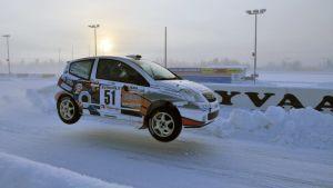 Arctic Lapland Rallyn erikoiskoe Mäntyvaarassa