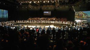 Huippukokouksen avajaisseremonia Santiagossa 26. tammikuuta.