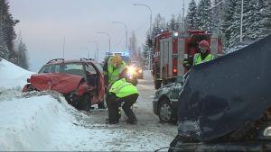 Onnettomuudessa Reijolassa loukkaantui kaksi vakavammin ja kaksi lievemmin.