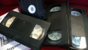 Videonauhoja kasassa