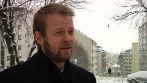 Kallion kirkkoherra Teemu Laajasalo.