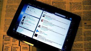 Twitter tablettitietokoneessa