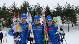 Suomen hiihtosuunnistajat kuvassa
