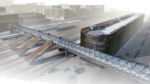 kuva Logomon sillasta ja pysäköintilaitoksesta