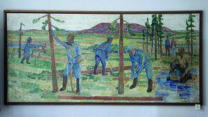 Tauno Hämeranta: Lapin elinkeinoelämää (1950) / Rovaniemen PYP - poistettu Nordean taidekokoelmista.