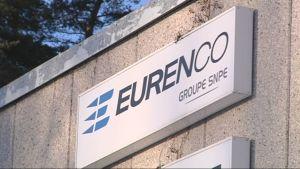 Eurencon tehtaan kyltti