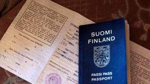 Neuvostoliiton aikainen viisumi ja suomalainen passi 1990-luvun alusta