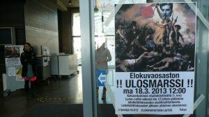 Aalto-yliopiston elokuvaopiskelijoiden ulosmarssin mainos