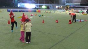 Välkkylän liikuntaleikkikoulun lapsia