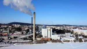 Kuopion Energian Haapaniemen voimalaitos talvella 2013
