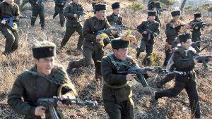Pohjois-Korealaisia sotilaita.