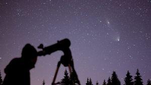 Andromeda, galaksi, PanSTARRS, komeetta
