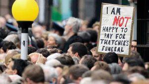 Margaret Thatcherin hautajaiset Lontoossa.