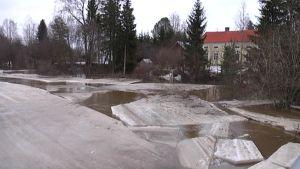 Tulvaa Kyrönjoella 17.4.2013