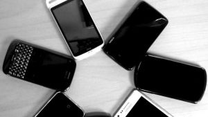 Älypuhelimia.