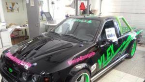 Latela-sarjan mekaanikkojen Justin Bieberin keikkaa varten rakentama erikoisauto