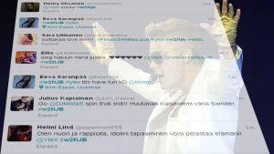Justin Bieberistä puhutaan sosiaalisessa mediassa, etenkin Twitterissä.