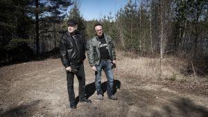 evp Hannu Lehtinen ja Y-Kinon teatteripäällikkö Ilkka Peura