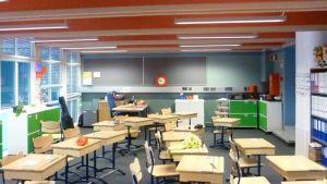 Seminaarin koulun luokkahuone.