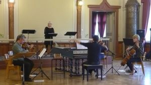 Vivaldin pienoisoopperan harjoitus Hämeenlinnan Palokunnantalolla