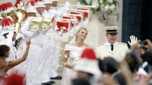 Albertin ja Charlene Wittstockin häätilaisuus Monacossa.