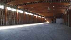 Hankkijan vanha viljavarasto Korialla.