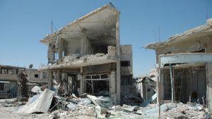 Qusairin tuhoutunutta kaupunkia