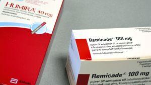 Biolääkkeet Humira ja Remicade.