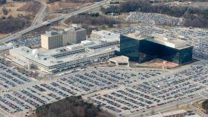 Yhdysvaltain kansallinen turvallisuusvirasto (National Security Agency - NSA) kuvattuna ilmasta Fort Meadessa, Marylandissä tammikuussa 2010.