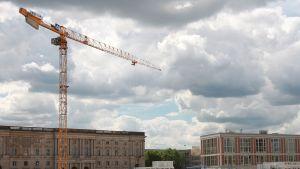 Berliinin linnan rakennuspaikka.