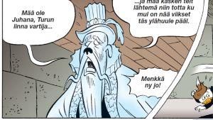 Aku Ankan Turku-numerossa väännetään luonnollisesti leveää Turun murretta.