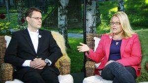 Jussi Kaasinen ja Tiina Zilliacus.