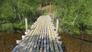 Korjattu Jounin silta Kaamasmukassa