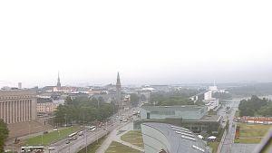 Näkymä Helsingin Postitalolta pohjoiseen.