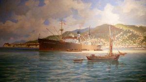 Adolf Bockin meriaiheinen maalaus.