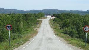 Norjan rajan tulliasema Näätämössä.