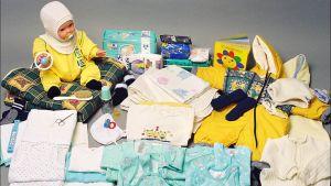 Äitiyspakkaus vuonna 2000