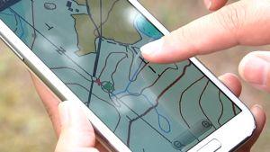 Sähköinen kartta mobiilisovelluksena.